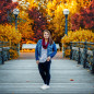 senior girl photography fall