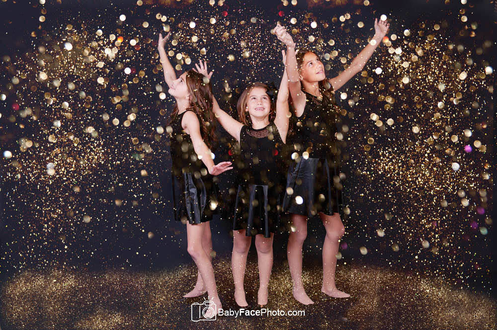 PS glitter overlays * 3 sisters * Frederick MD children