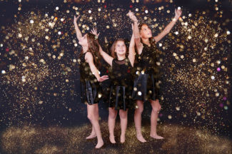 PS glitter overlays * 3 sisters * Frederick MD children's Photographer