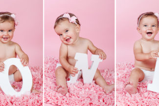 One Year old photography Frederick MD studio