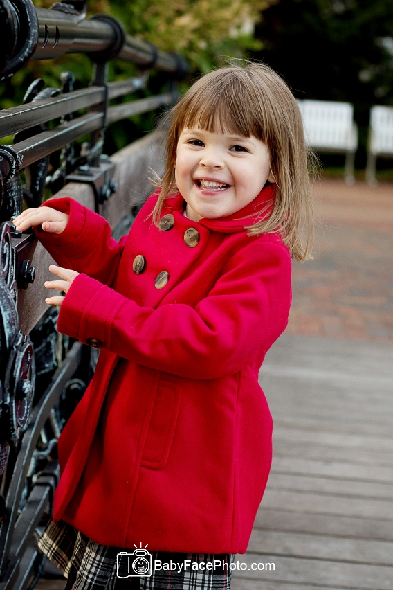 3 year old girl red coat