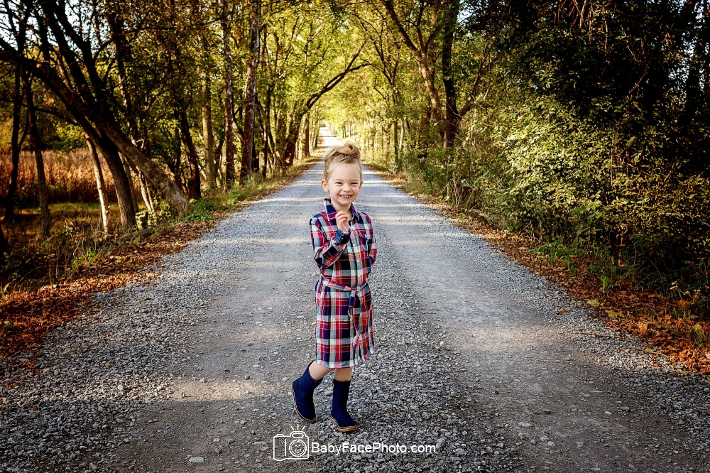 five year old girl on road