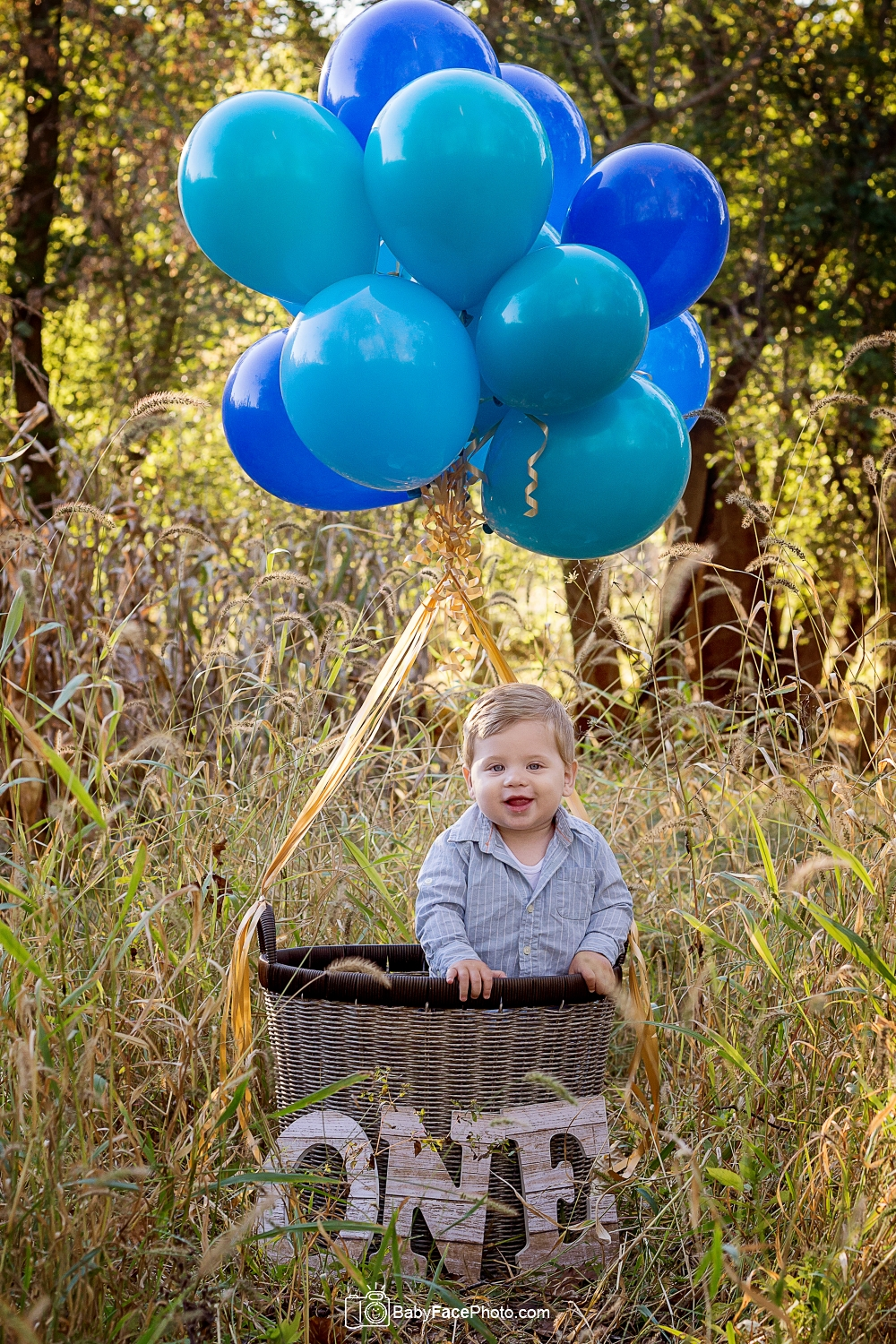 one year old boy hot air balloon