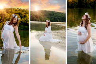 Maternity photos in Lake Linganore